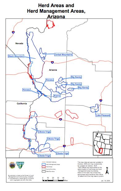 BLM Map of HAs and HMAs of Arizona