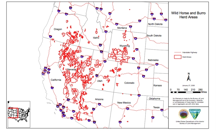 "Map of original ""Herd Areas"" designated by BLM"