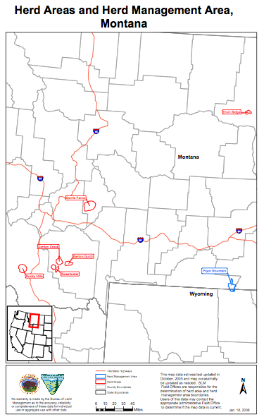 Montana HMA/HA Map