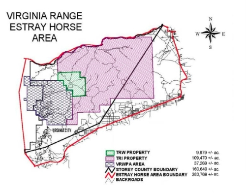 Map of Nevada's Virginia Range